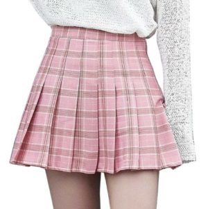 Taylor Valhalla's® Welcome to The U.S.V. Skirt Collection Tennis High Waist Skater Skirts Pink