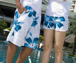 Tommy Valhalla's® Shieldmaiden/Viking Board Shorts Quick Dry Swimming Trunks Skygen Flowers