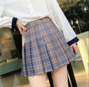 Tommy Valhalla's® Welcome to The U.S.V. Skirt Collection Tennis High Waist Skater Skirts Blue